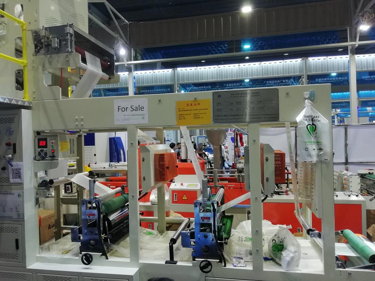 stroj na výrobu ekologických tašiek z Číny
